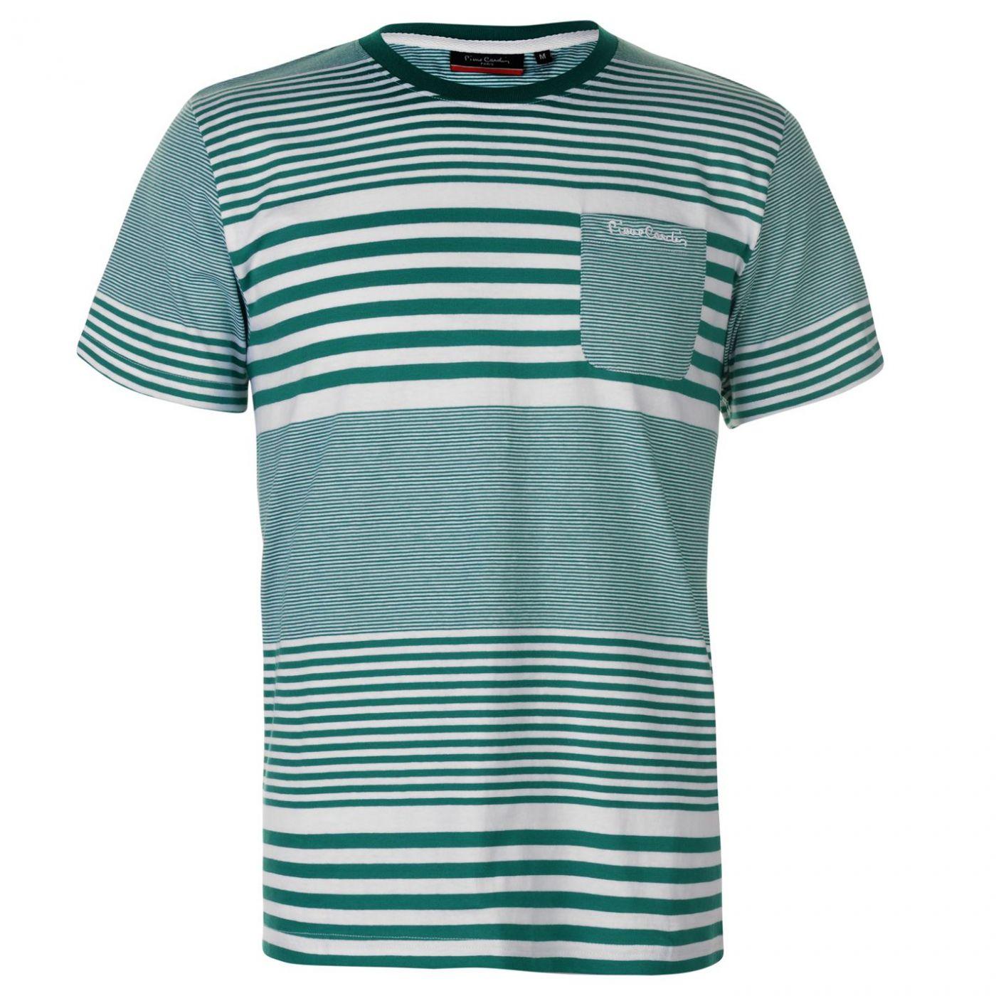 Pierre Cardin Mix Stripe T Shirt Mens