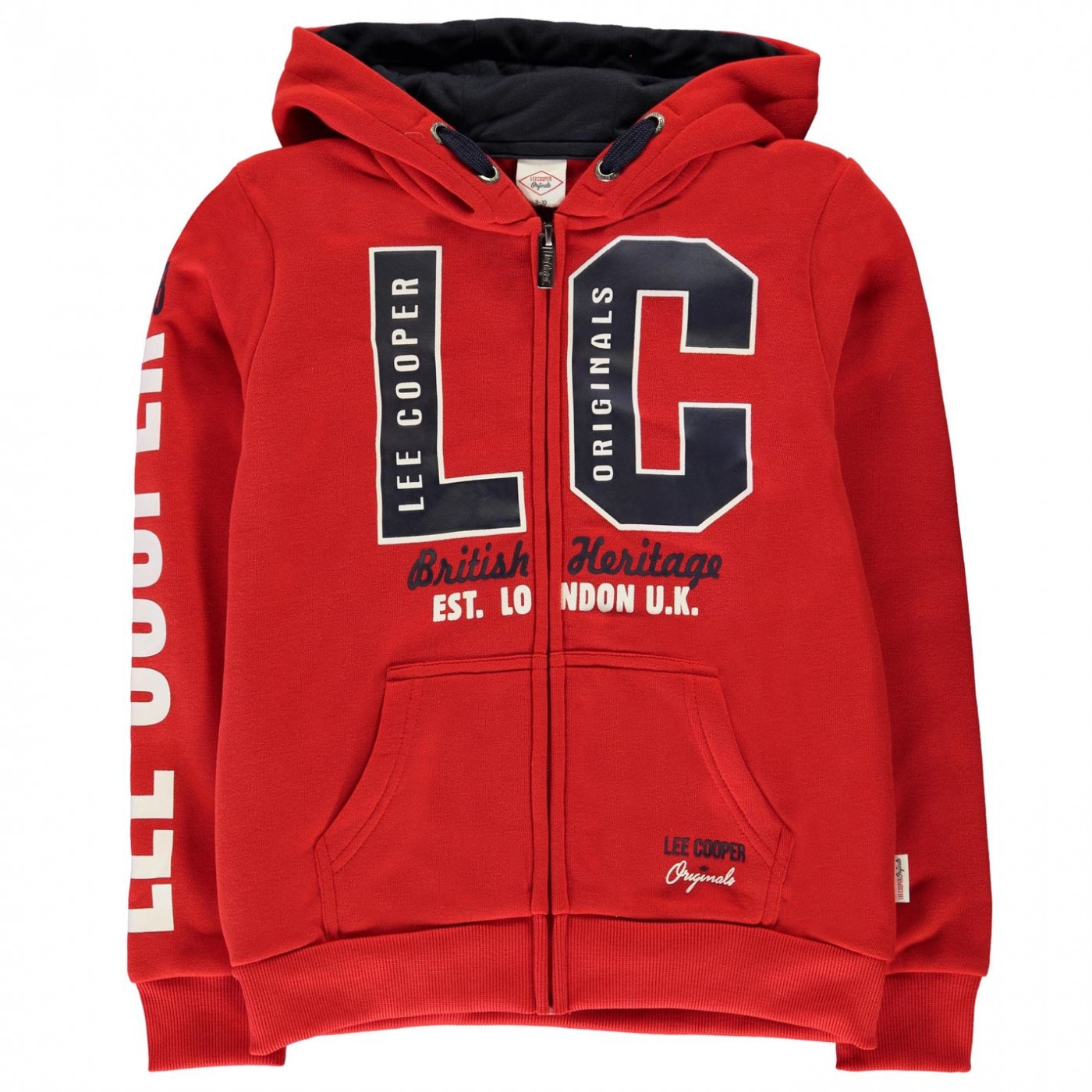 Lee Cooper Bright Zip Hoodie Junior Boys