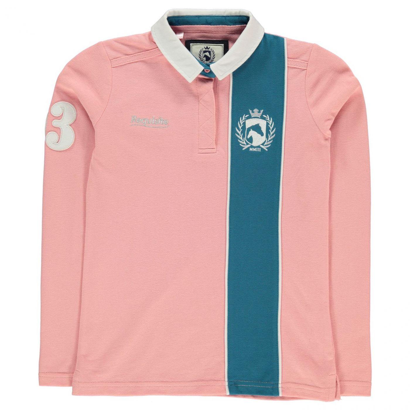 Requisite Girls Long Sleeve Polo Shirt