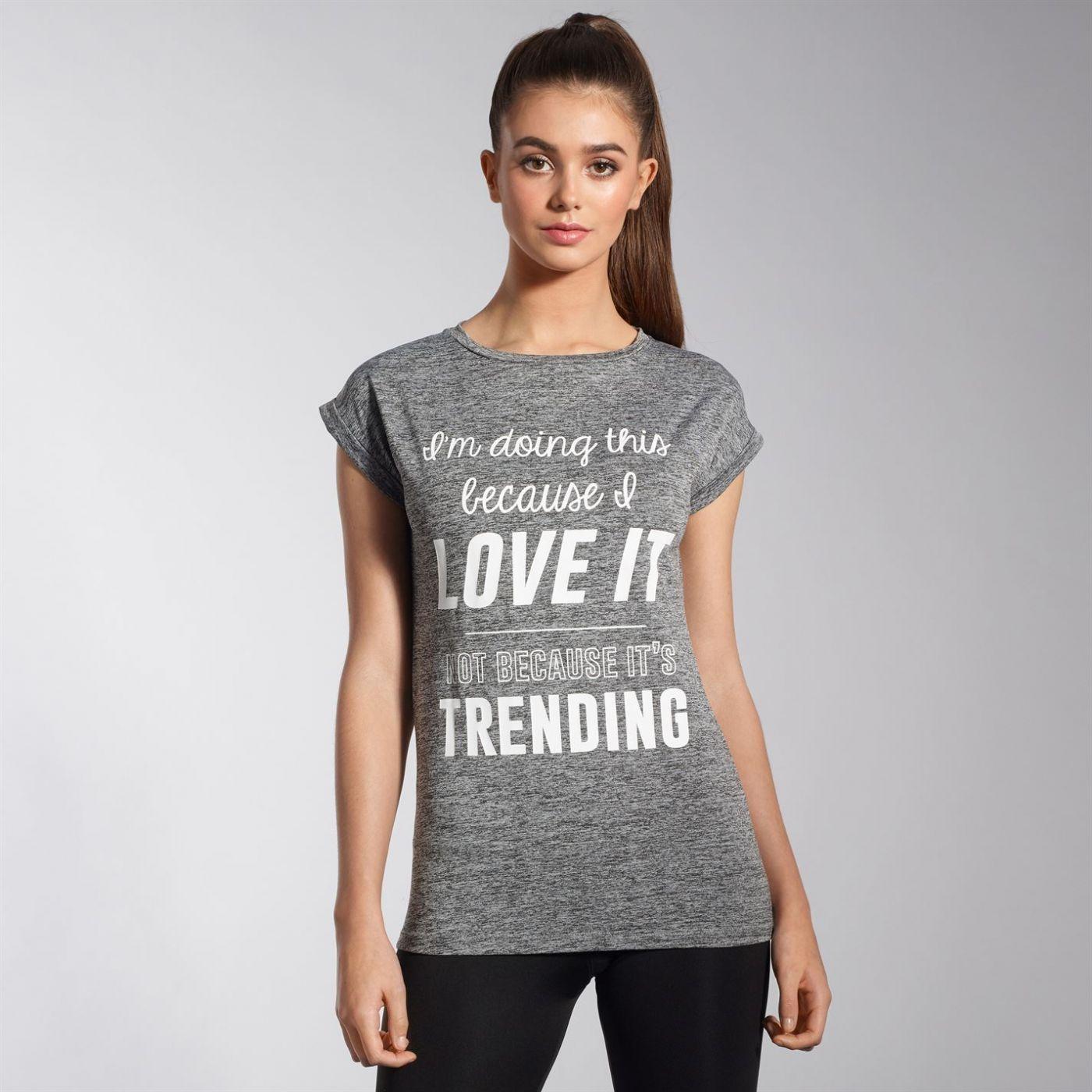 SportFX Slogan T Shirt Ladies