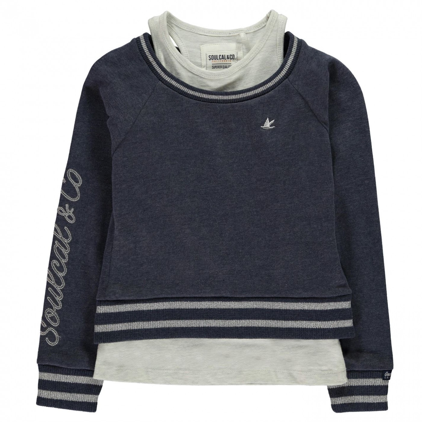 SoulCal Double Layer Sweater Junior Girls
