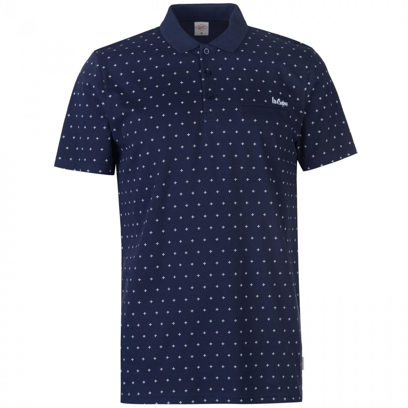 Lee Cooper AOP Polo Shirt Mens