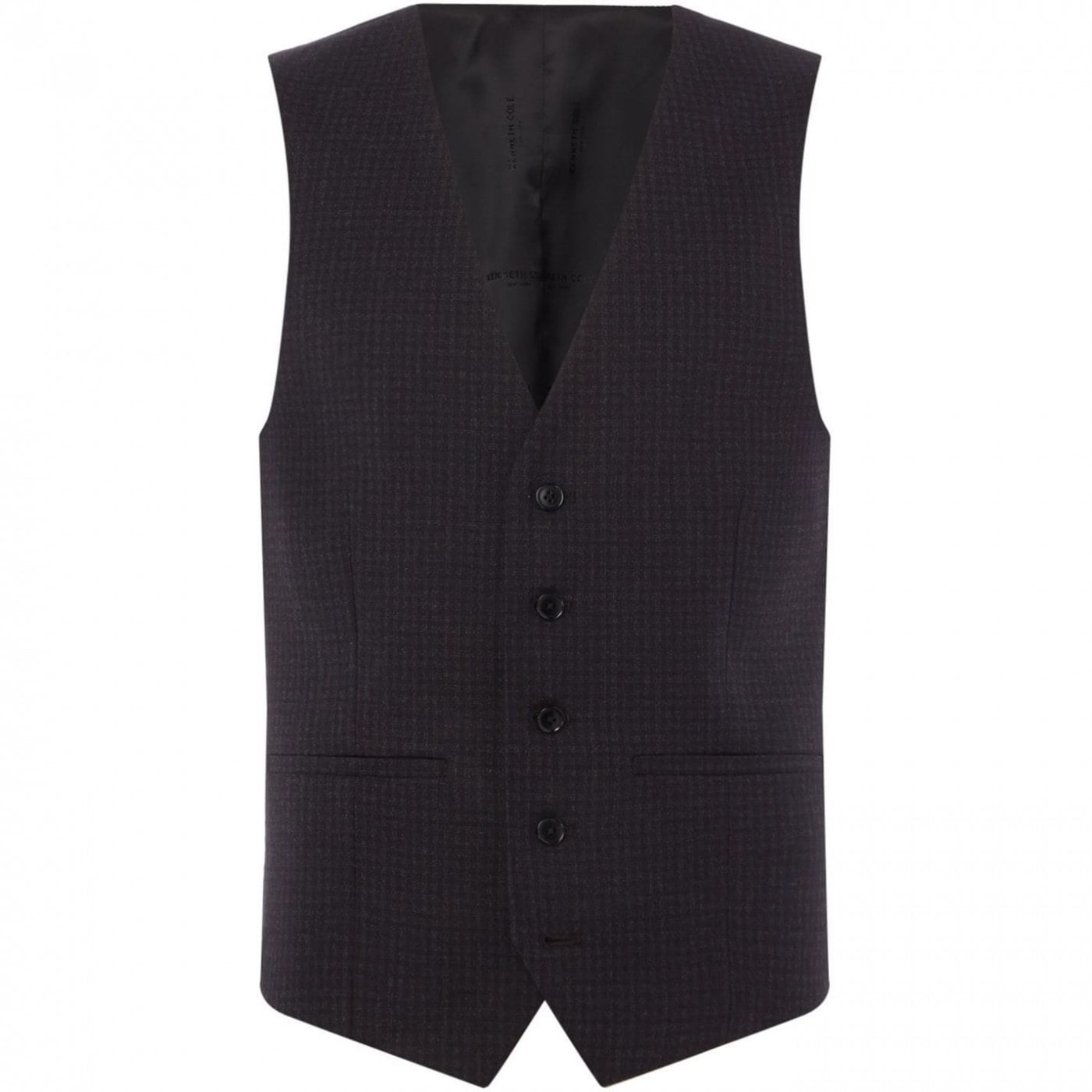 Kenneth Cole Stanton Checked Slim Fit Suit Waistcoat