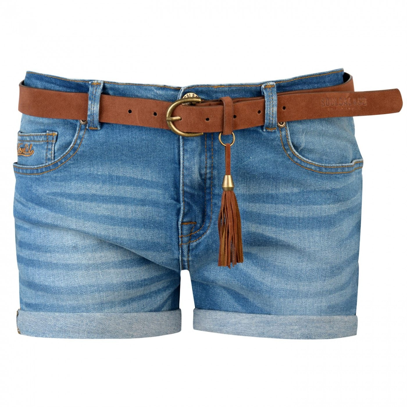 SoulCal Turned Up Belted Shorts Ladies