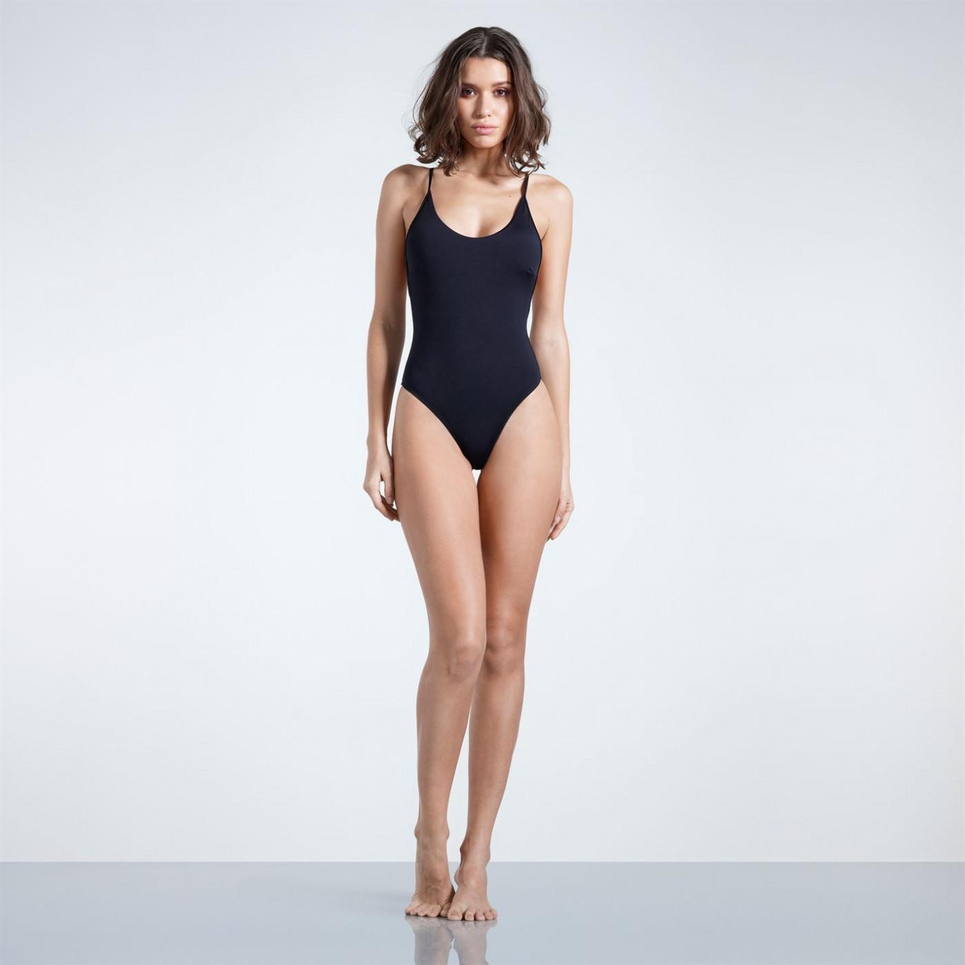 Firetrap Blackseal Cross Back Swim Suit