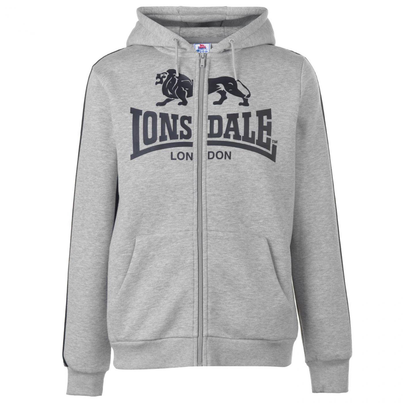 Lonsdale 2S Zip Hoody Mens