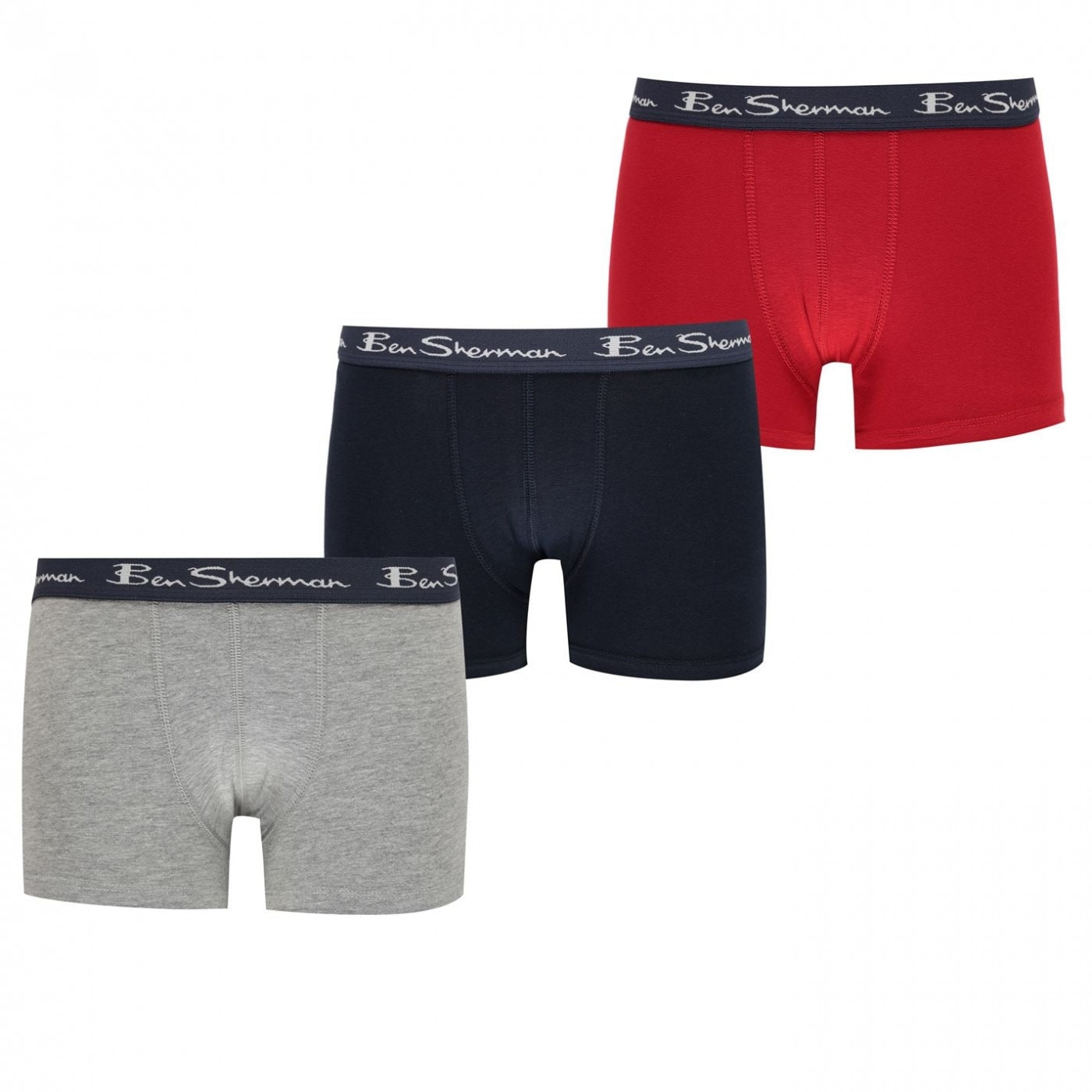 Ben Sherman 3 Pack Boxers Junior Boys