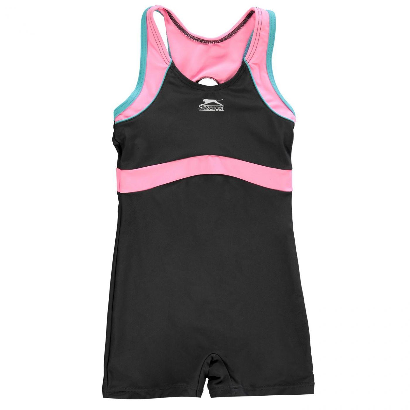 Slazenger Boyleg Swimming Suit Junior Girls