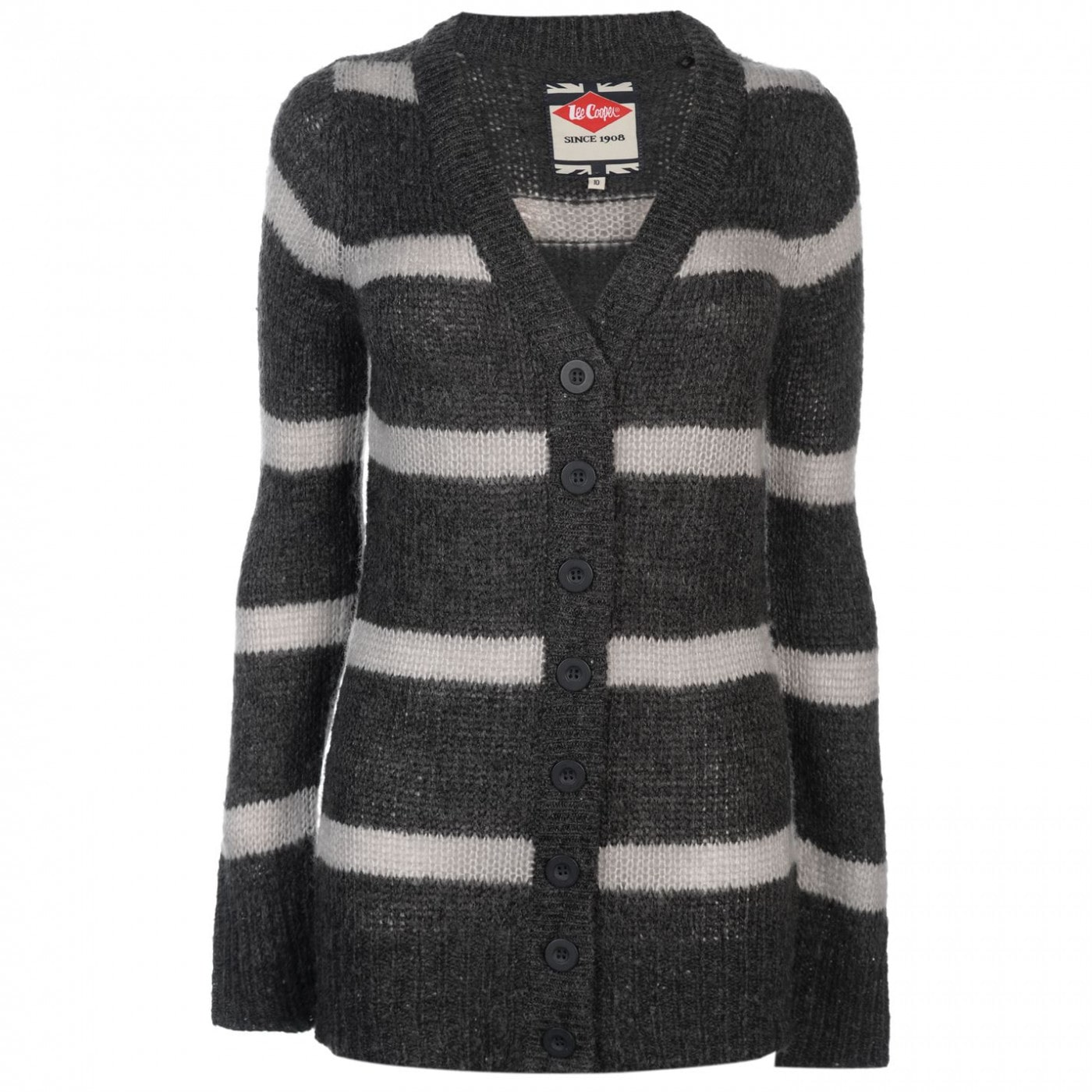 ab79d56b741a5 Lee Cooper Essential Stripe Cardigan Ladies - FACTCOOL