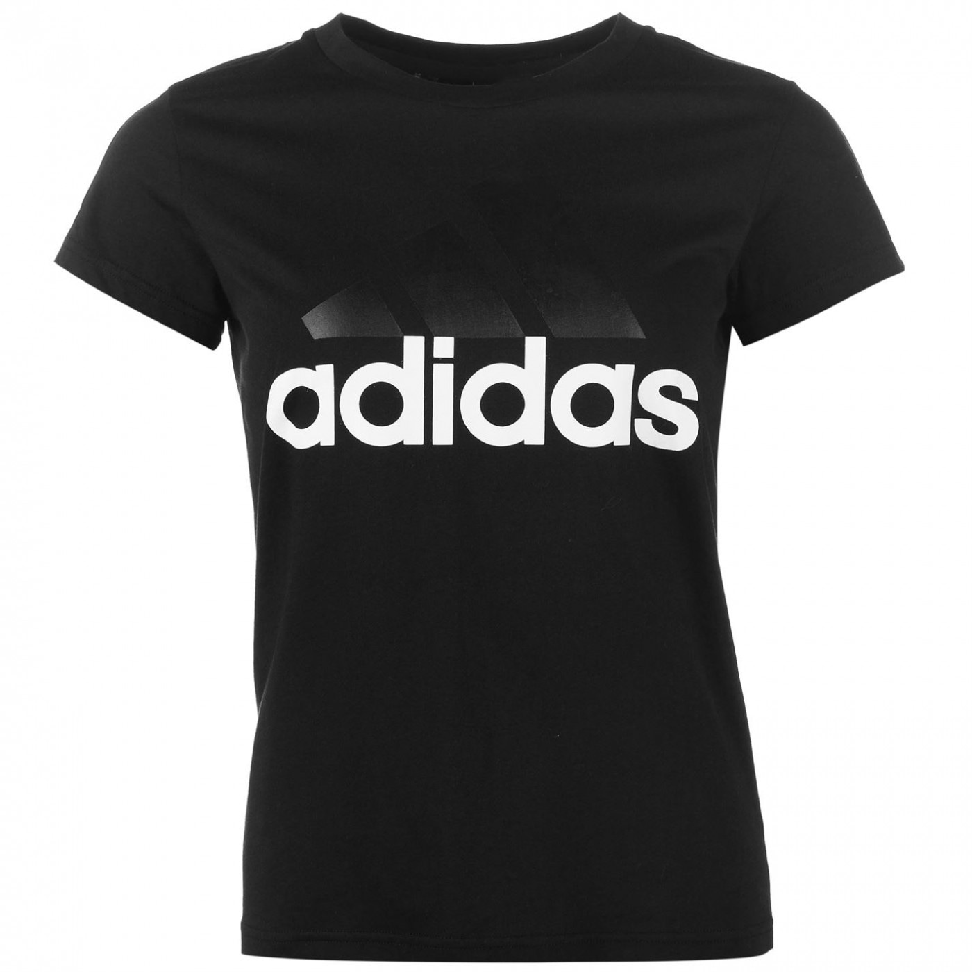 Adidas Linear QT T Shirt Ladies