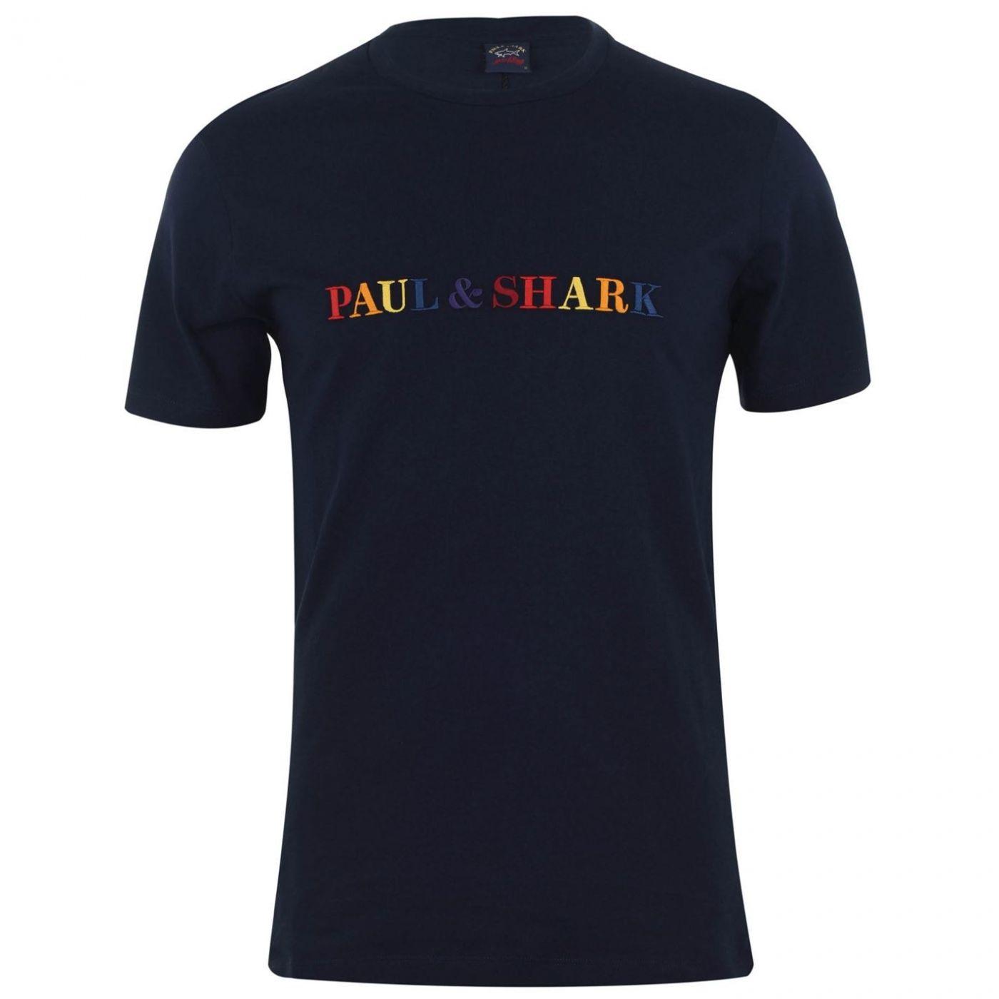 Paul And Shark Rainbow Logo T Shirt