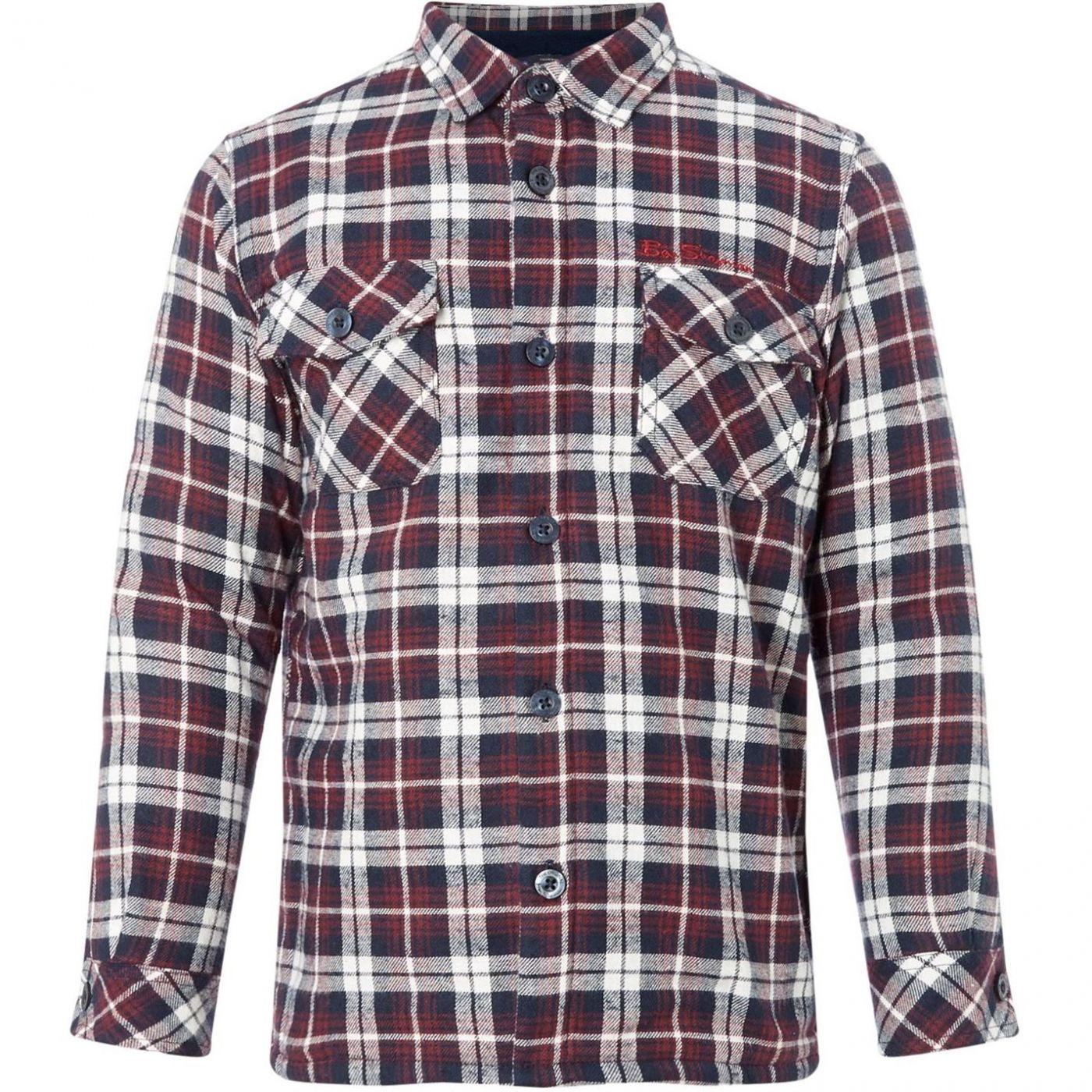 Ben Sherman Brushed Fleece Cotton Check Shirt