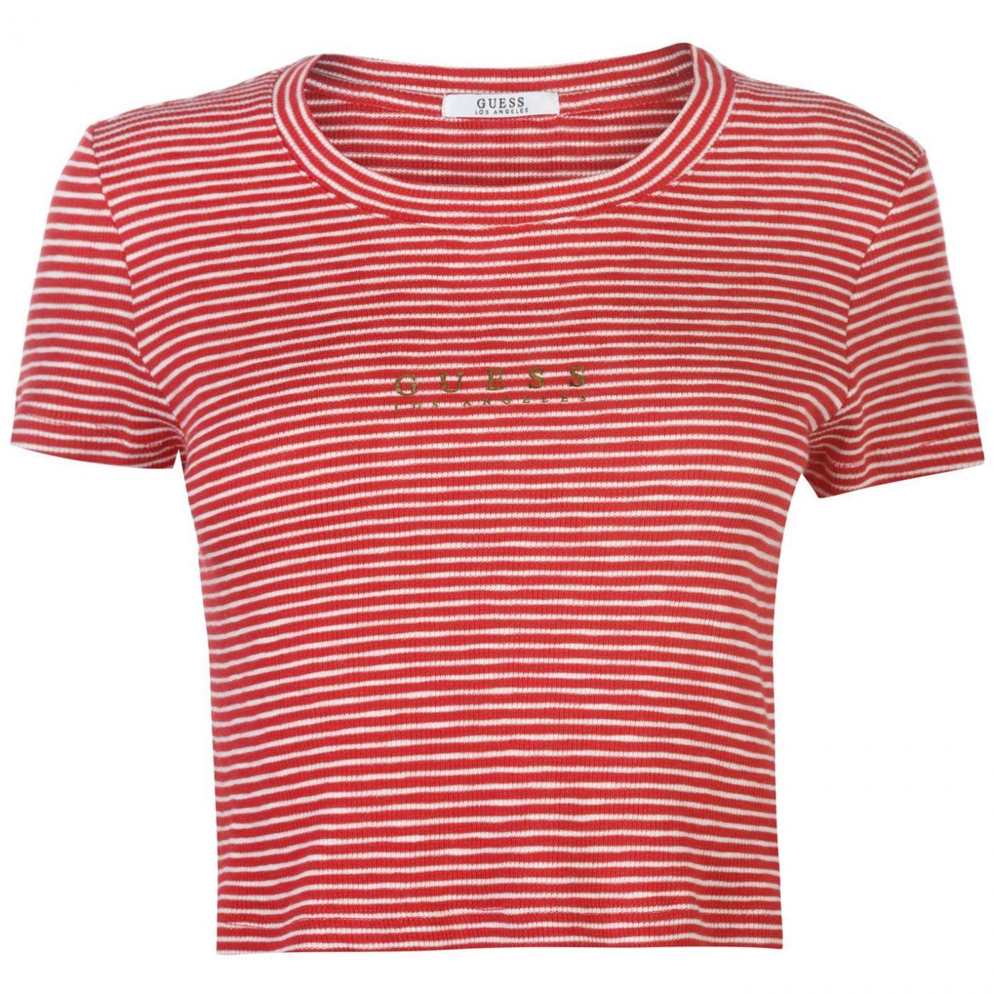 Guess Navy Crop T Shirt