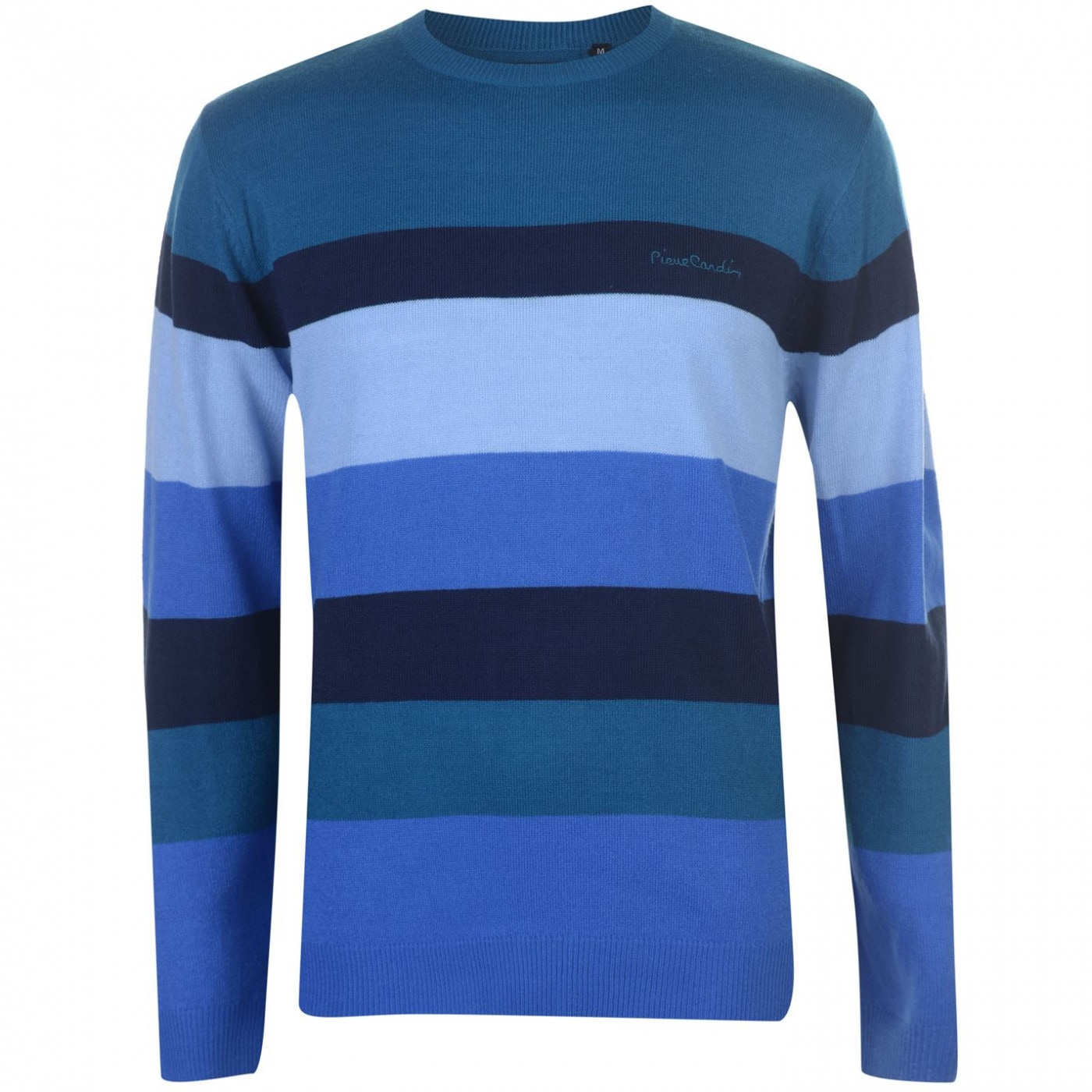 Pierre Cardin Wide Stripe Crew Knit Mens