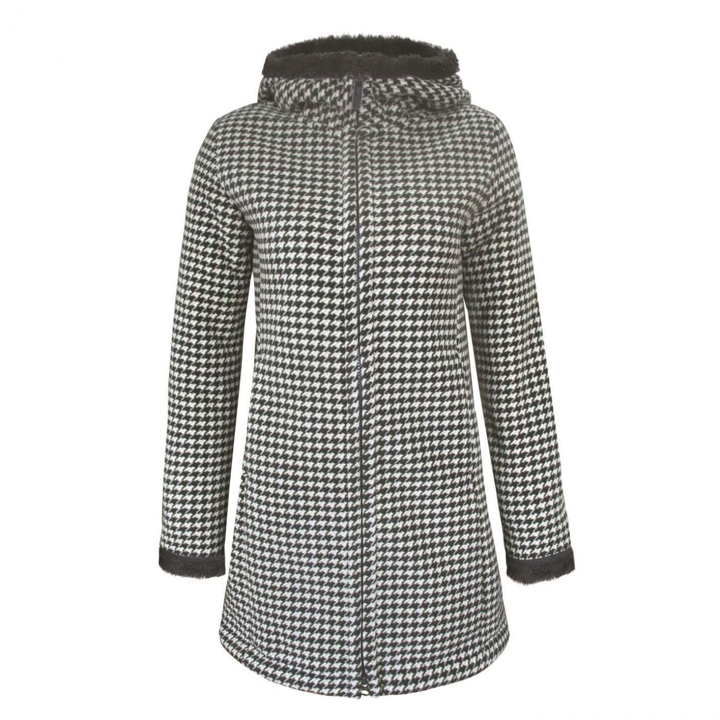 Lee Cooper Heavy Faux Fur Lined Coat Ladies