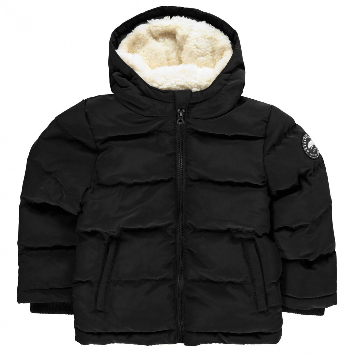 SoulCal Boys 2 Zip Bubble Jacket Junior