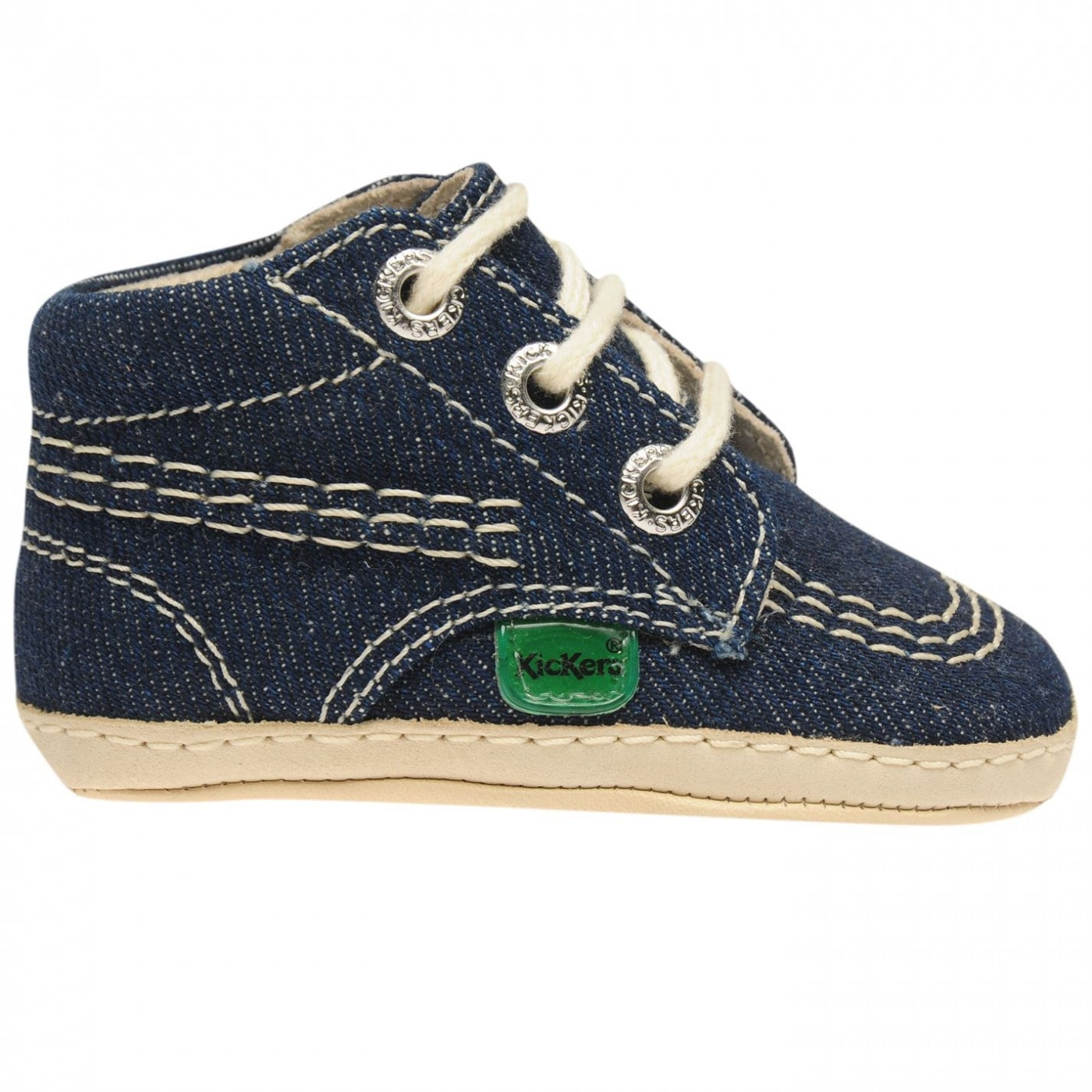 Kickers 1st Text Baby Boys Crib Shoes
