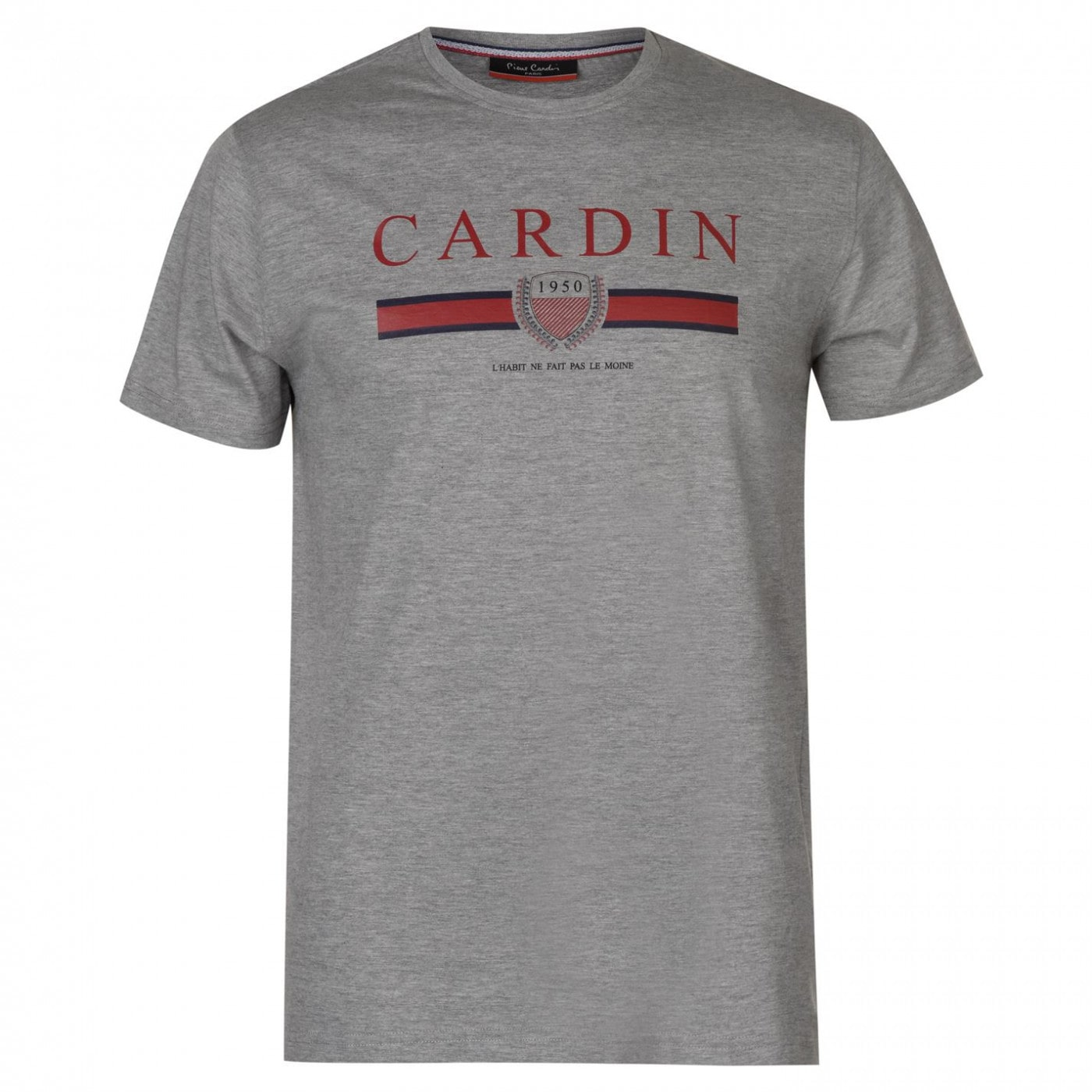 Pierre Cardin Vintage Style Printed Logo Tee Mens