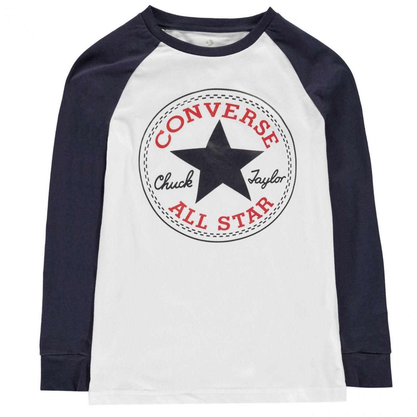 Converse Chuck Long Sleeved T Shirt Junior Boys