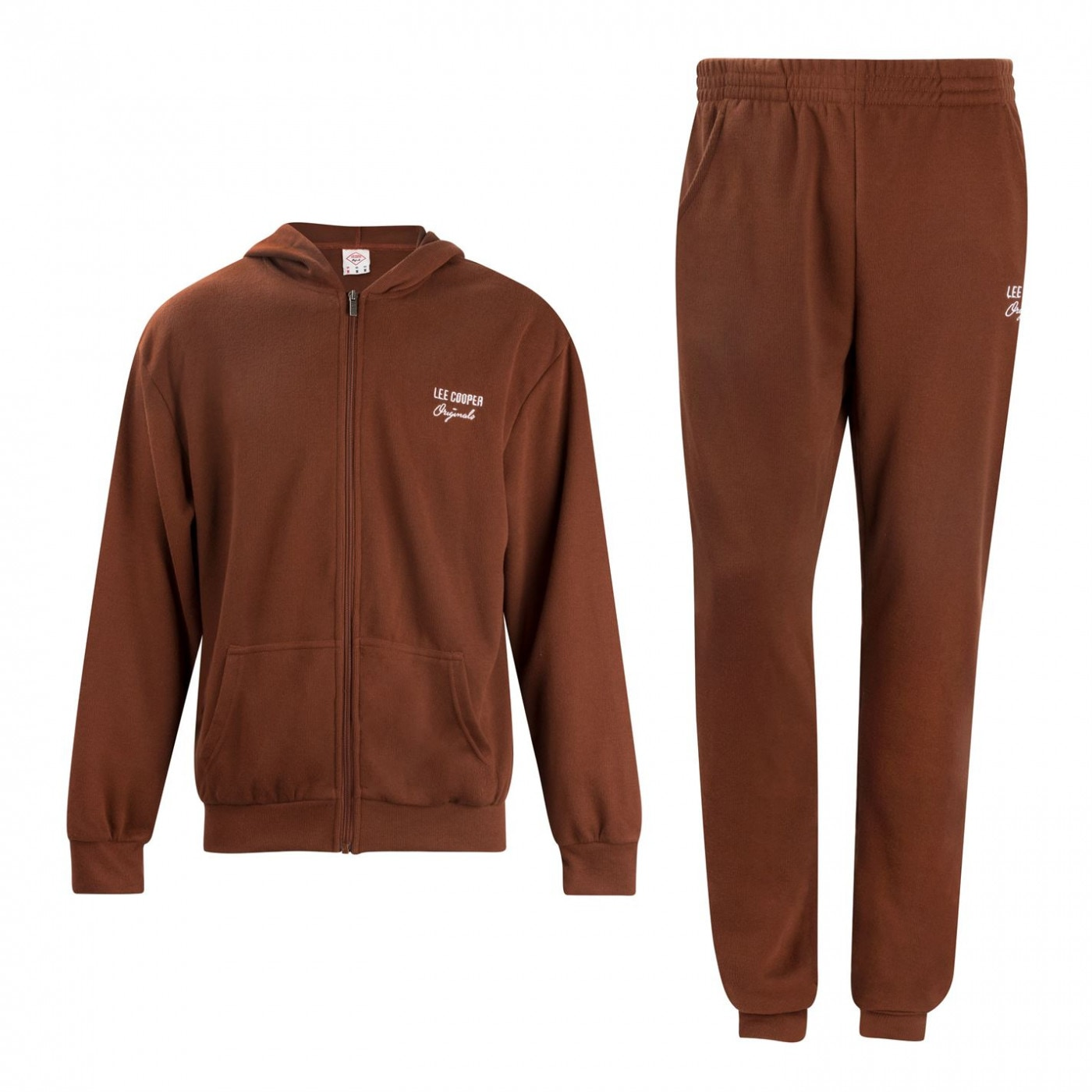 Lee Cooper Rib Jog Suit Mens