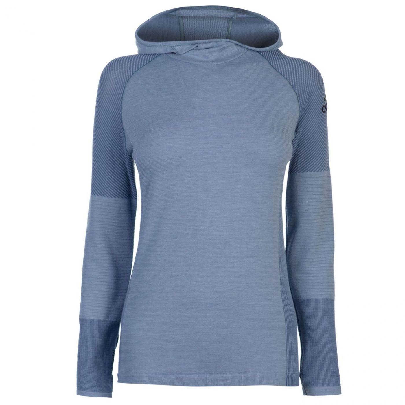 Adidas ClimaHeat Long Sleeve Hooded Top Ladies
