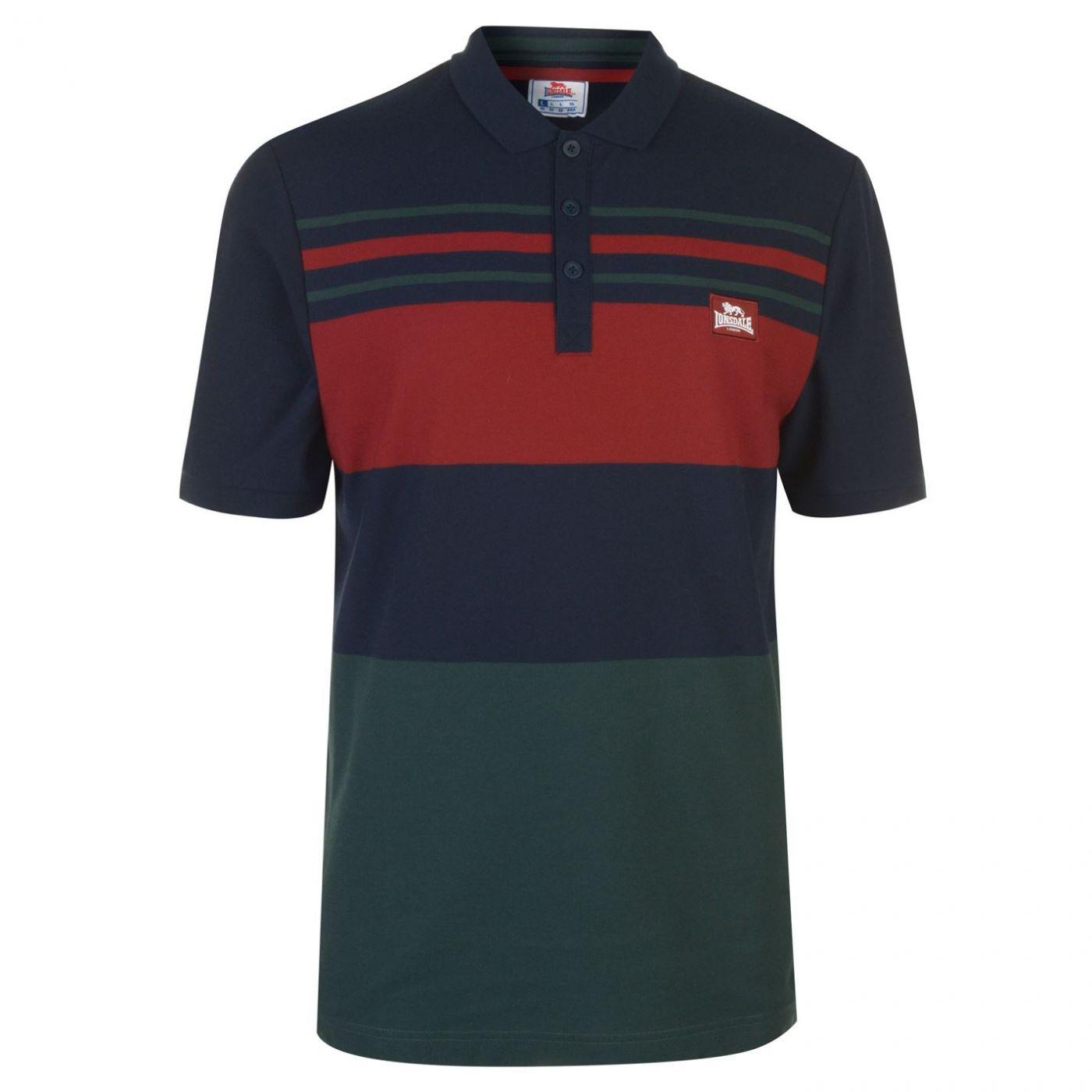 Lonsdale Yarn Dye Stripe Polo Shirt Mens