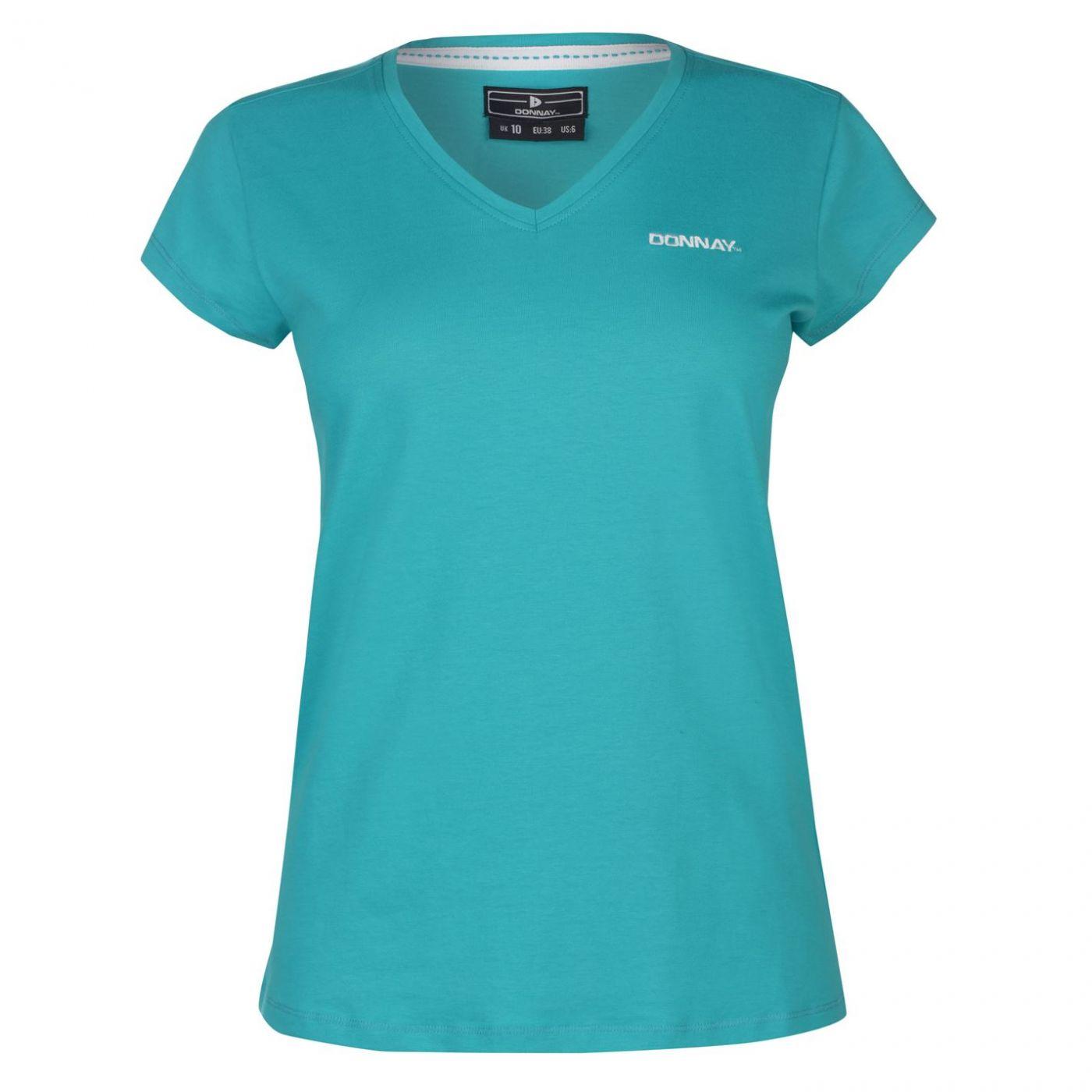 Donnay V Neck T Shirt Ladies