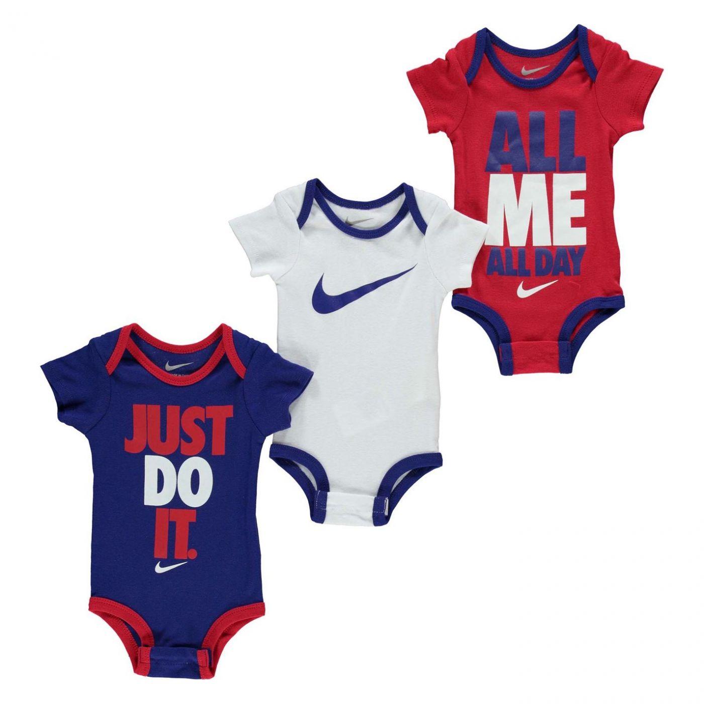 Nike Swoosh 3 Pack Romper Baby Girls
