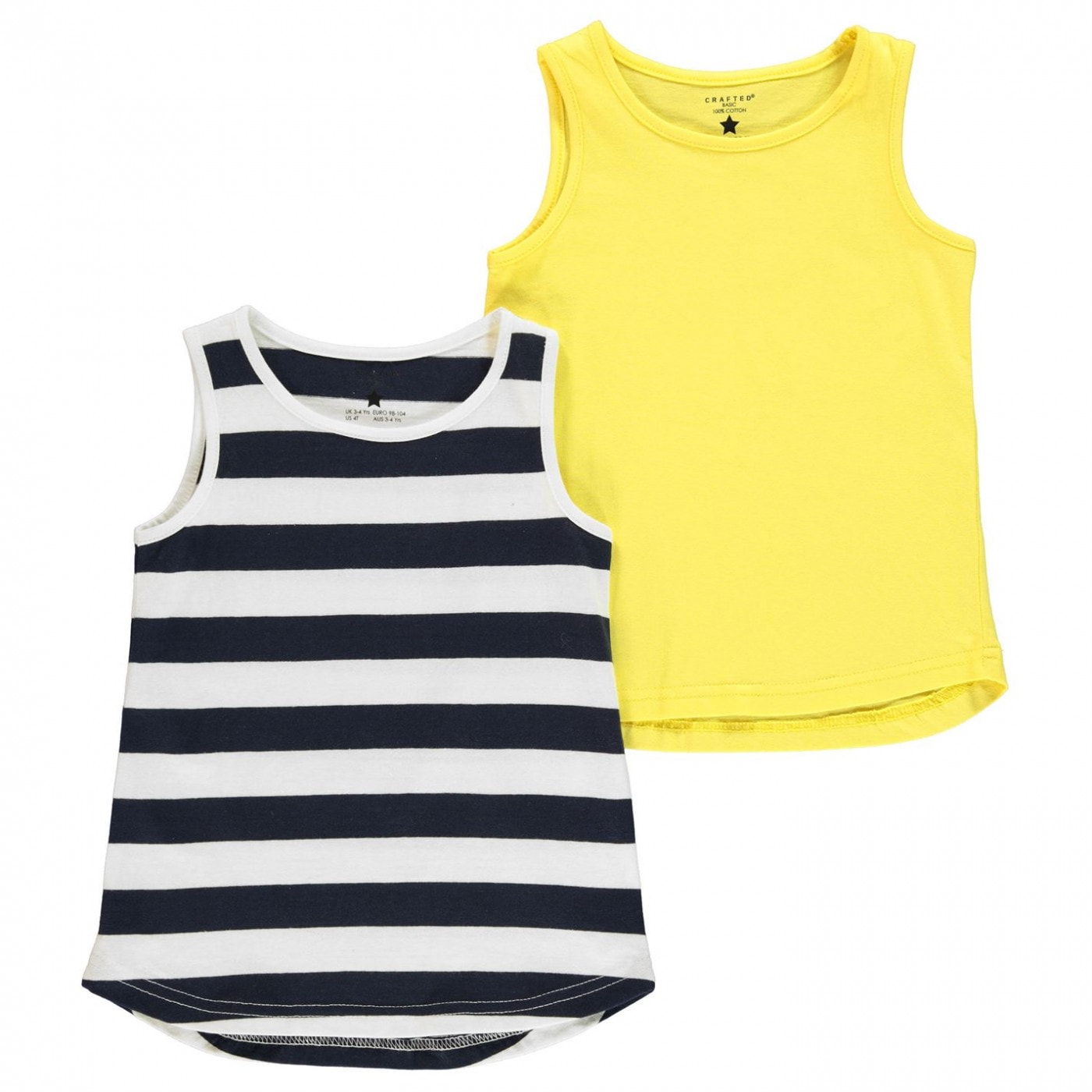 Crafted 2 Piece Jersey Vests Infant Girls