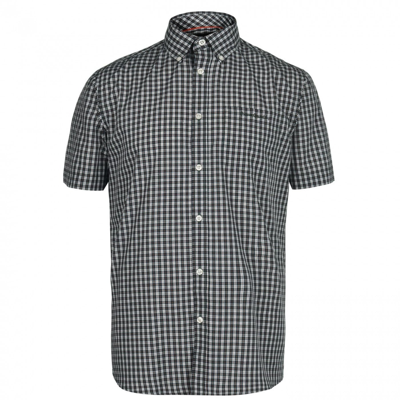 Pierre Cardin Short Sleeve Micro Check Shirt Mens