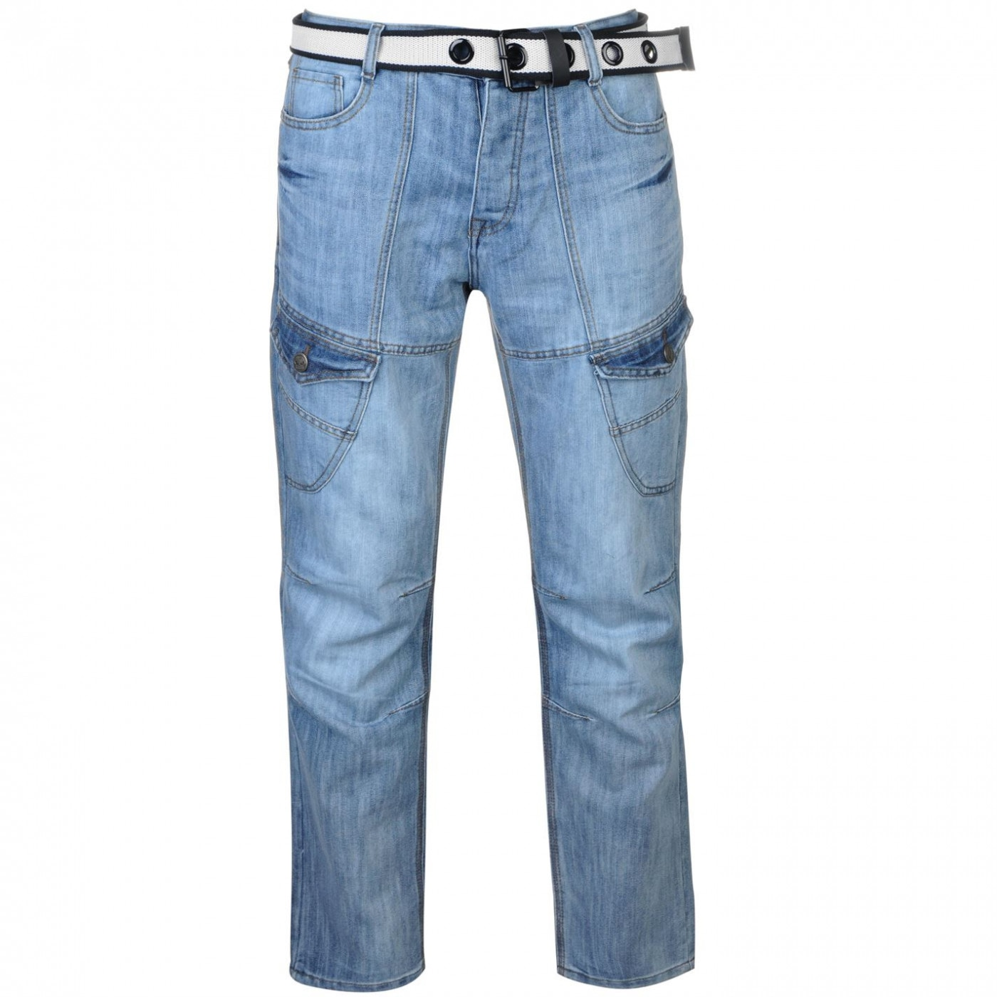 No Fear Belted Cargo Jeans Mens