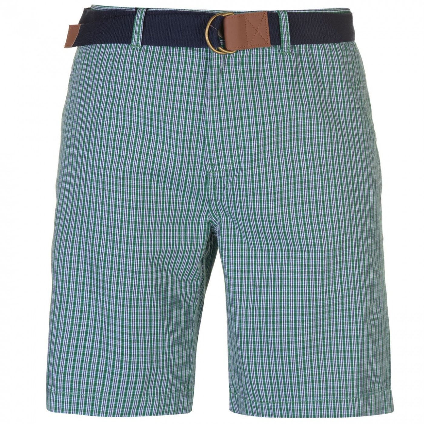 Pierre Cardin Check Belted Shorts Mens