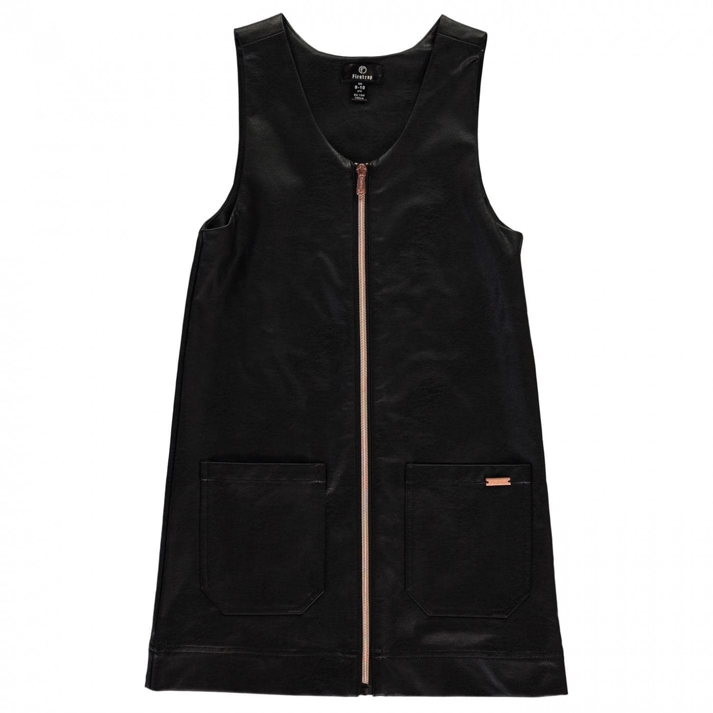 Firetrap PU Pinafore Dress Junior Girls