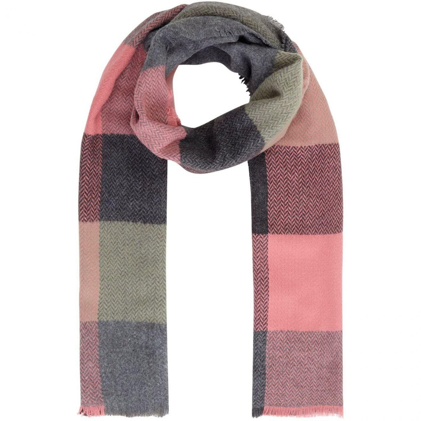 Maison De Nimes Olivia oversized check scarf
