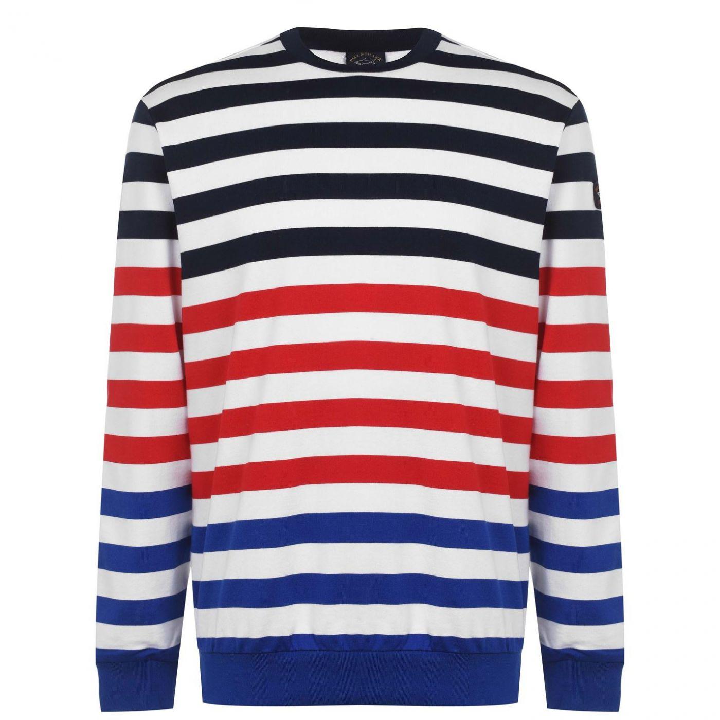 Paul And Shark Stripe Crew Sweatshirt