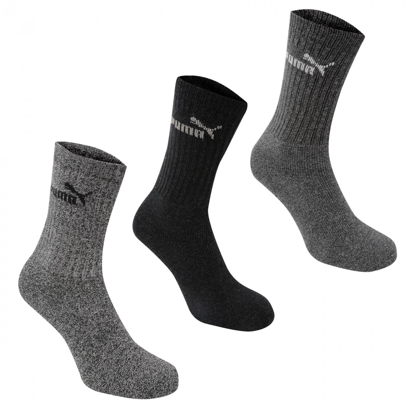 Puma 3 Pack Crew Socks Mens