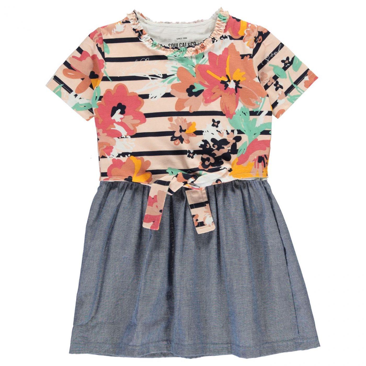 SoulCal Stripe Frill Dress Infant Girls