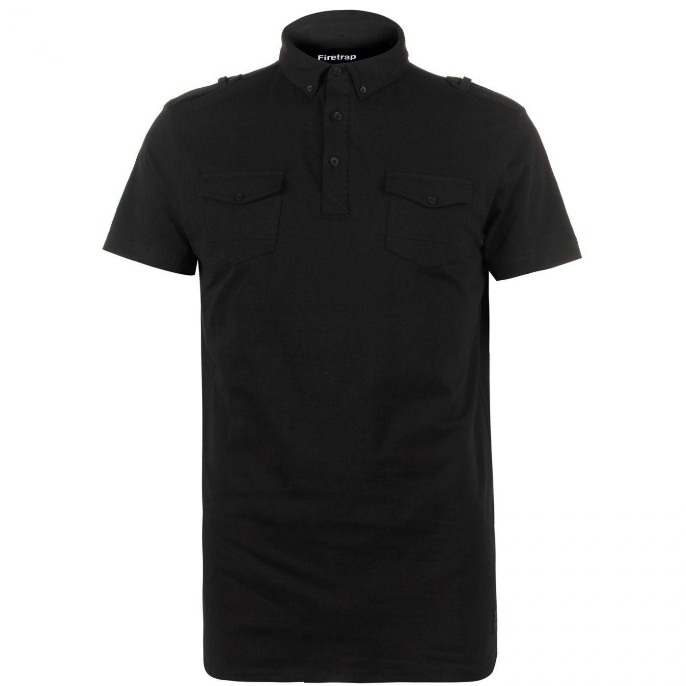 Firetrap Double Pocket Polo Shirt Mens