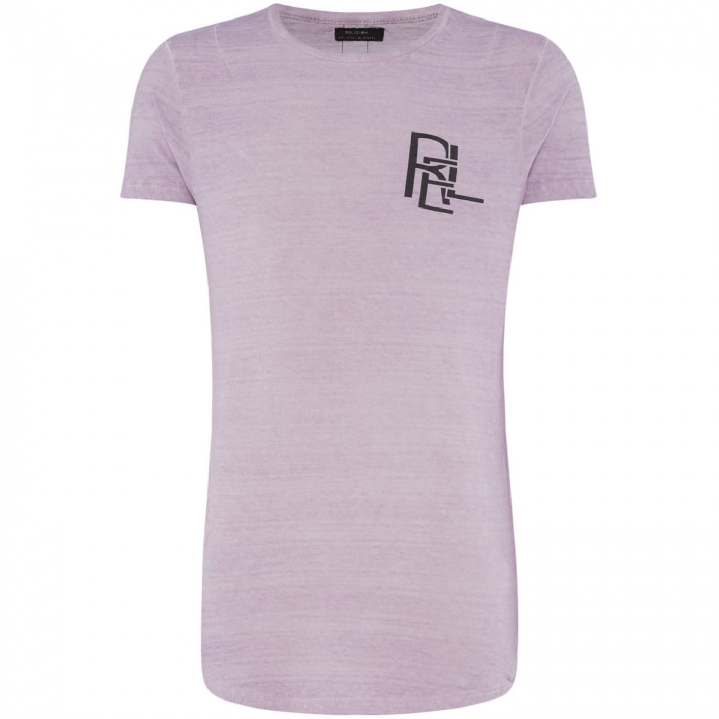 Religion Distressed Wash Text Logo T-Shirt