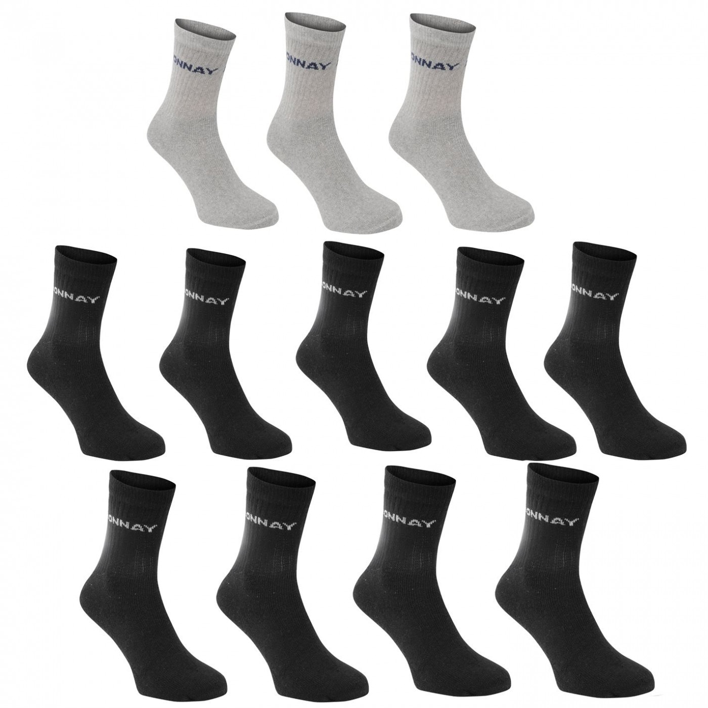 Donnay Crew Socks 12 Pack Mens Plus