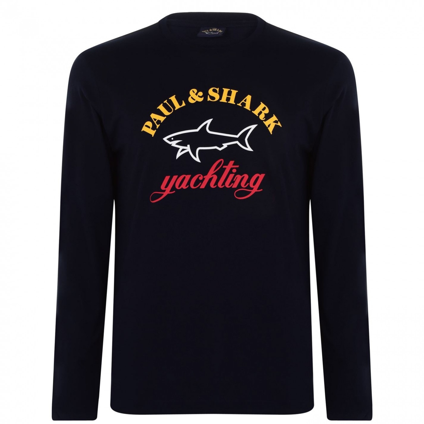 Paul And Shark Long Sleeved Large Logo T Shirt