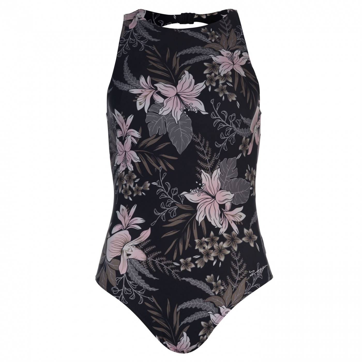 Zoggs Soft Nature Hi Front Swimsuit Ladies