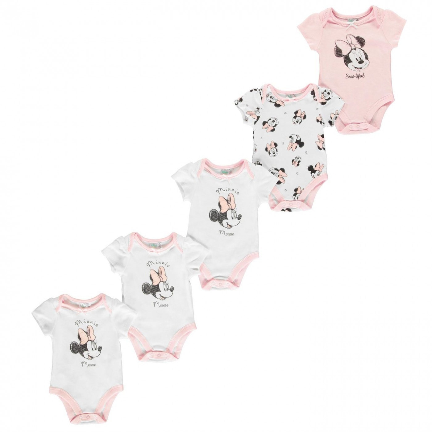 Character 5 Pack Vest Baby