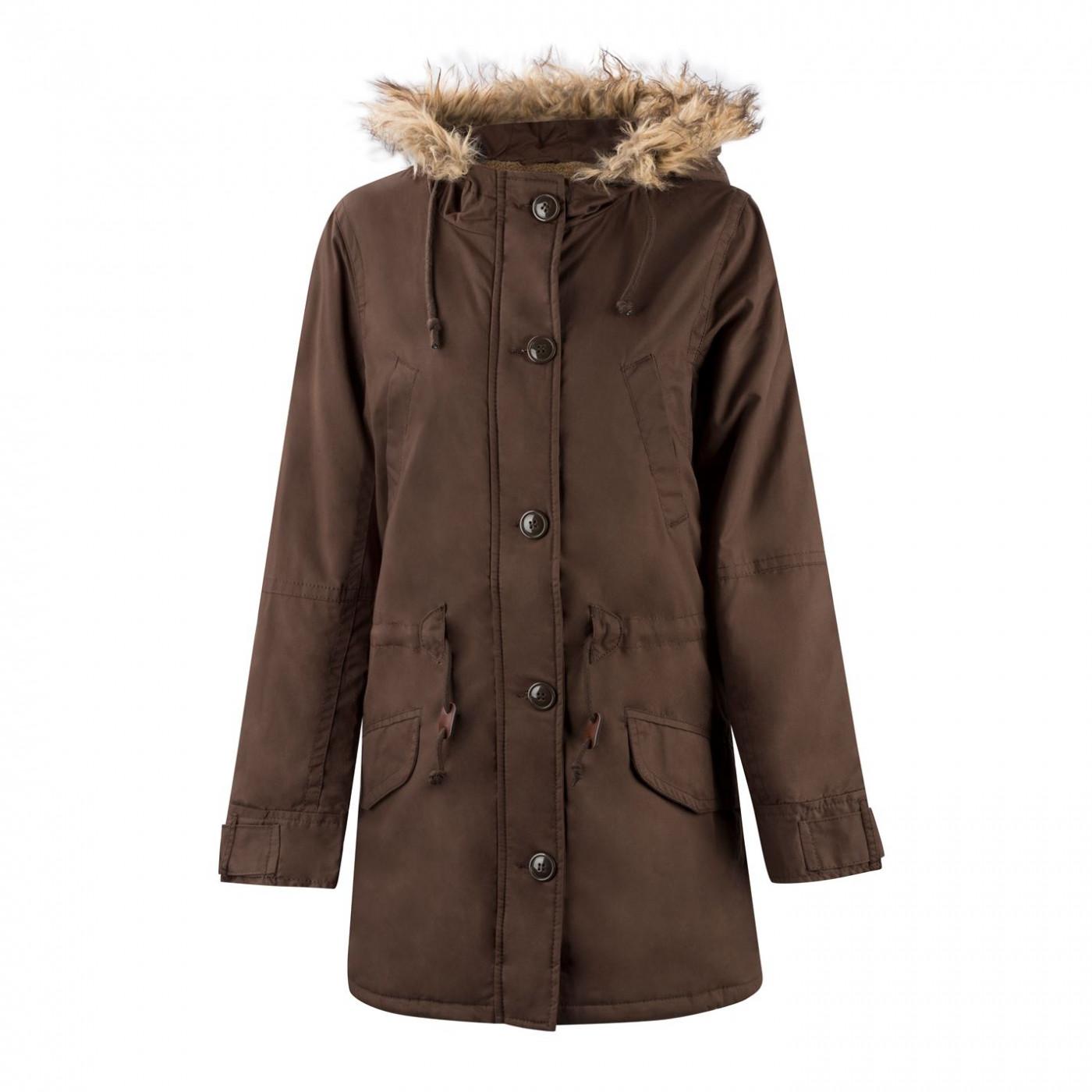 Lee Cooper Fur Lined Jacket Ladies