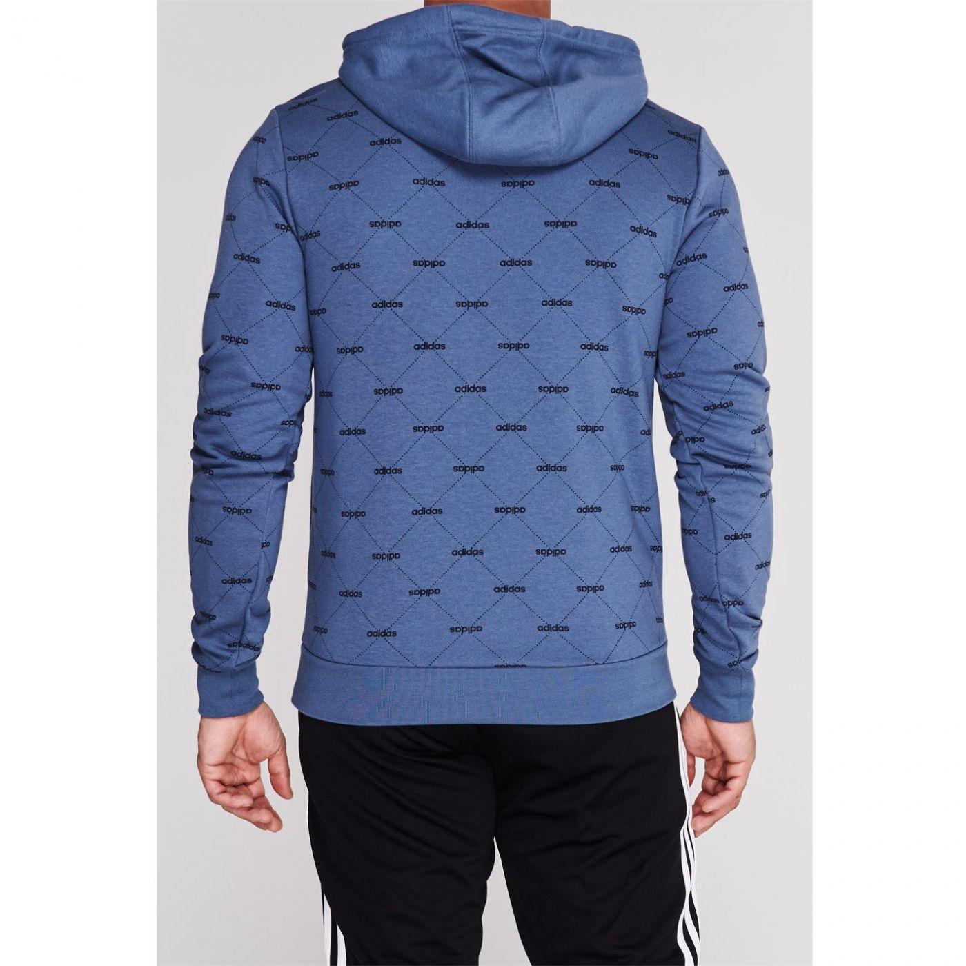 Adidas All Over Printed Hoodie Mens