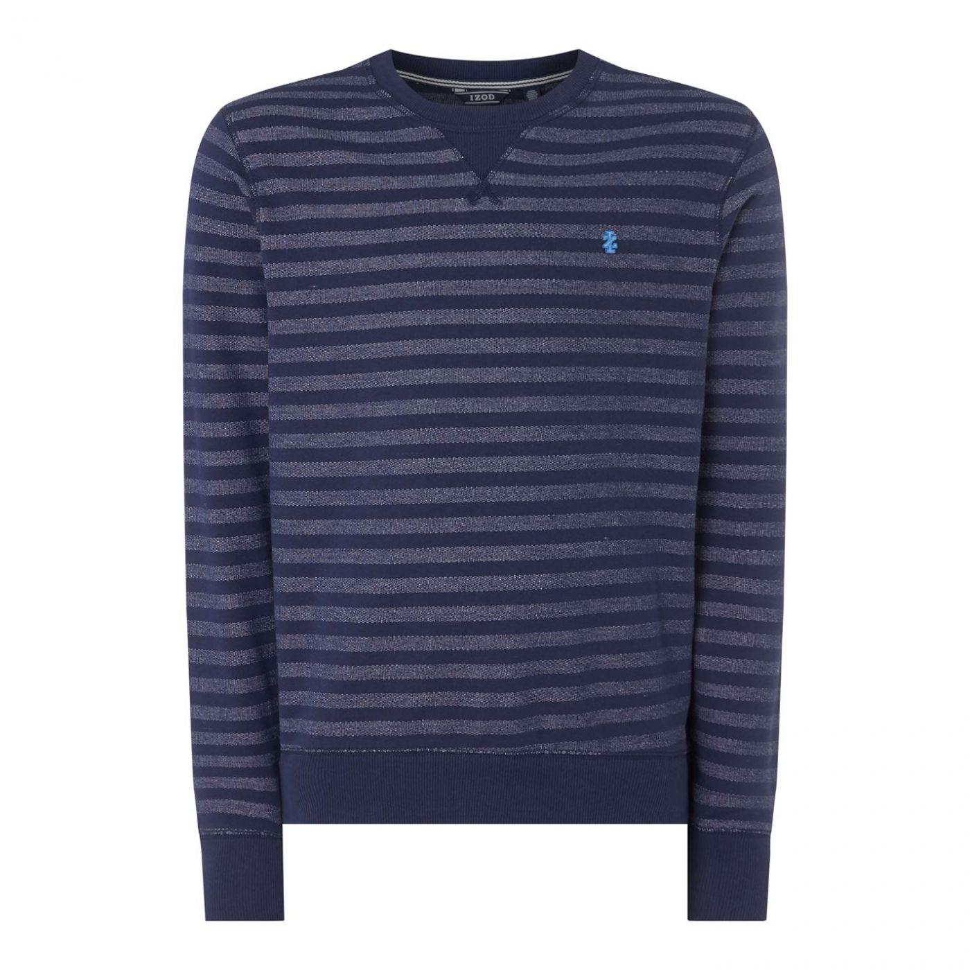 IZOD Striped Crew Neck Sweater