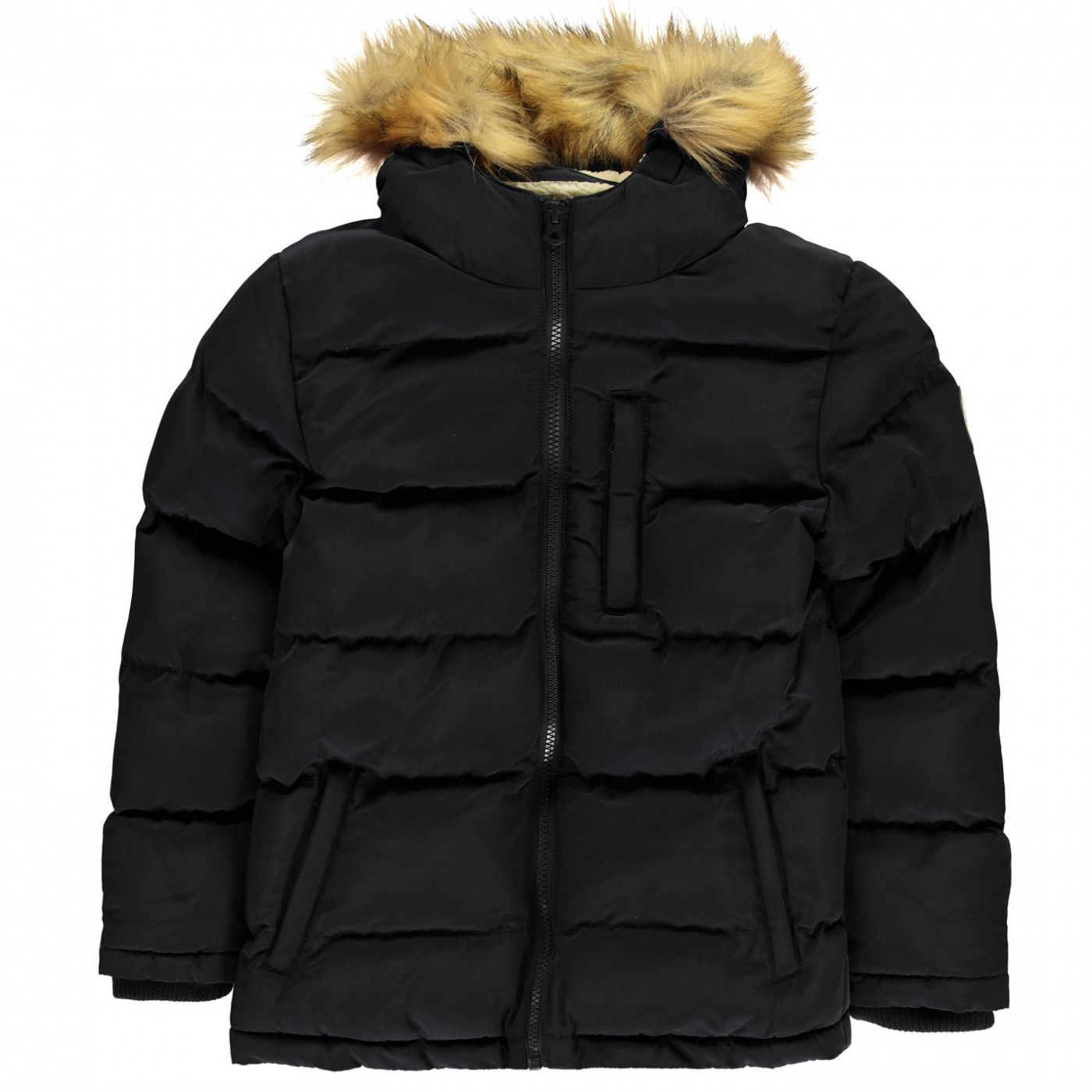 SoulCal Boys 2 Zip Bubble Jacket Junior