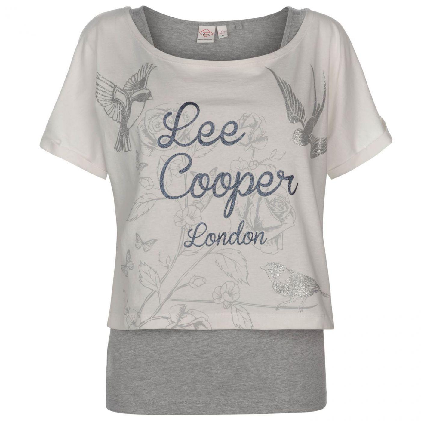 Lee Cooper Double Layer T Shirt Set Ladies