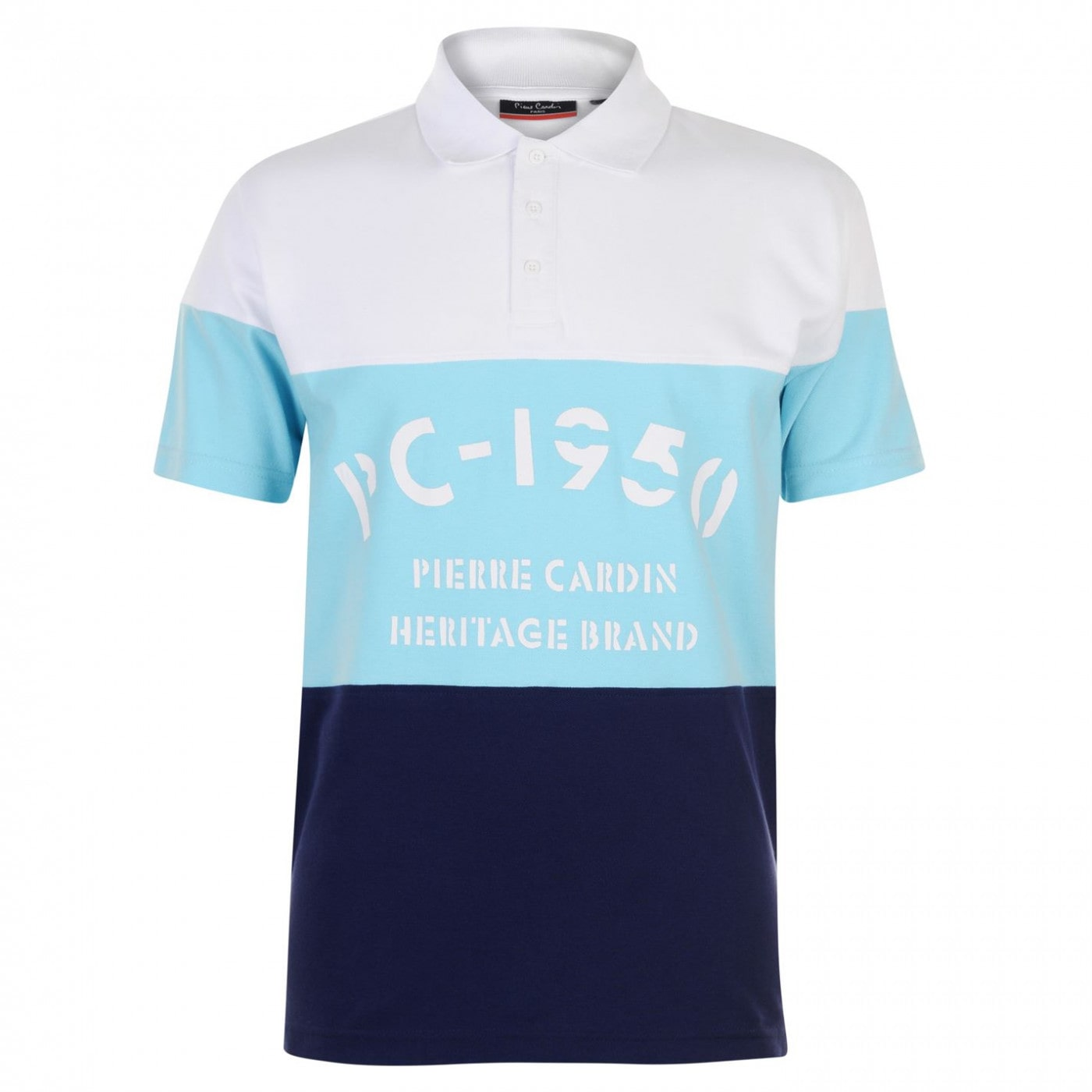 Pierre Cardin Cut and Sew Printed Polo Mens