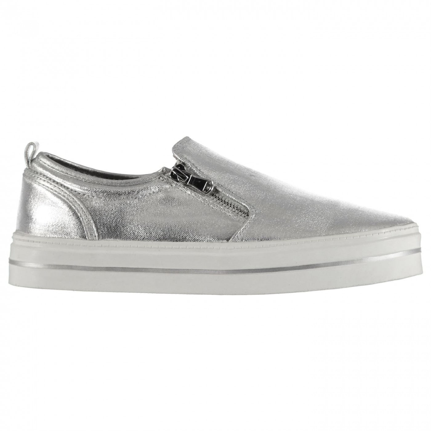 Lee Cooper Slip On Zip Ladies Trainers